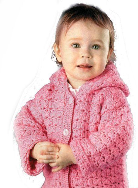 Вязание детской кофточки со схемой крючком
